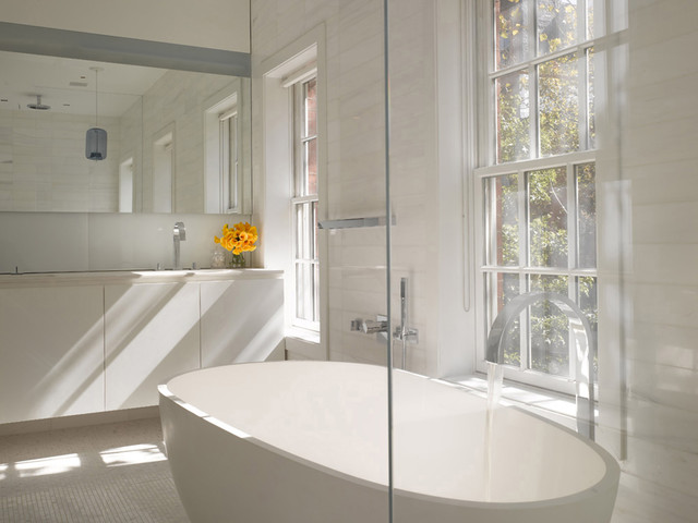 West Village Townhouse NYC traditional-bathroom
