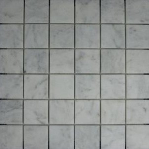 Bianco Carrara Marble Tile - 2x2 Polished contemporary-wall-and-floor-tile