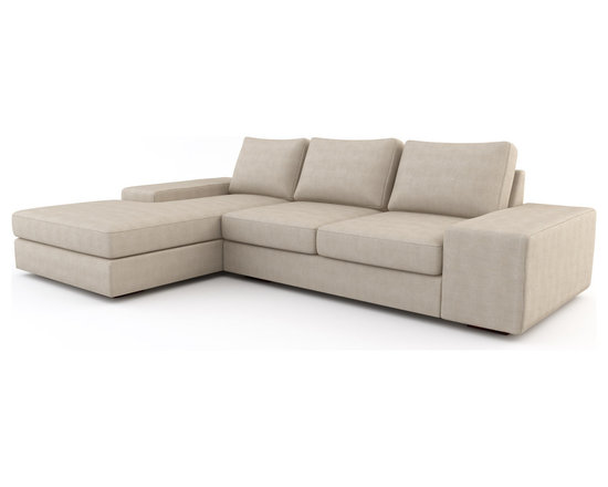 Strata Chaise Sectional w/ Sofa Bed - The main elements that set our sofa beds apart from others are the modern design and the comfort of the sofa and mattresses we carry.The Strata is our most popular sofa bed design. It has a very modern look and with the deep frame embodies what it means to have a loungy sofa.  One of our many examples that modern furniture can still be comfortable. A sofa bed as functional as it is beautiful.Viesso designs and manufactures this piece of modern furniture. All of the sofa beds from the Viesso line are built one at a time in Los Angeles in 3 weeks. With all the custom options available, they are truly built for you and your space.  A custom sofa bed that's also an eco sofa bed. Yes, it's that good.
