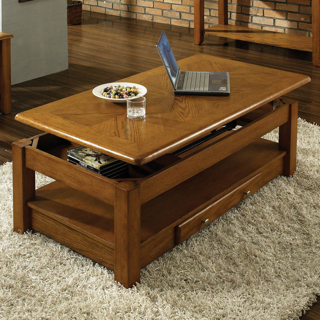 Nelson Lift Top Cocktail Table Oak Contemporary Coffee Tables By Modern Furniture Warehouse