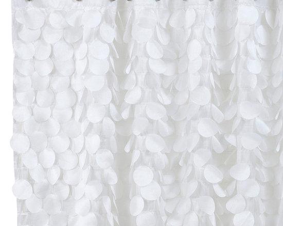 Gigi Fabric Shower Curtain, White -