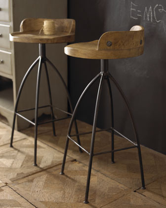 Wood & Iron Barstool traditional bar stools and counter stools