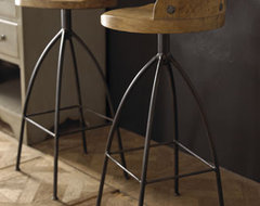 Wood & Iron Barstool | Horchow traditional-bar-stools-and-counter-stools