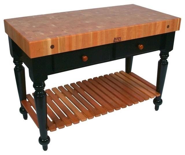 Rectangular Table in Cherry End Grain Top (30 contemporary-dining-tables
