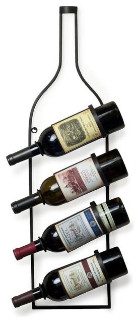 4 Bottle Wall Wine Rack contemporary-wine-racks