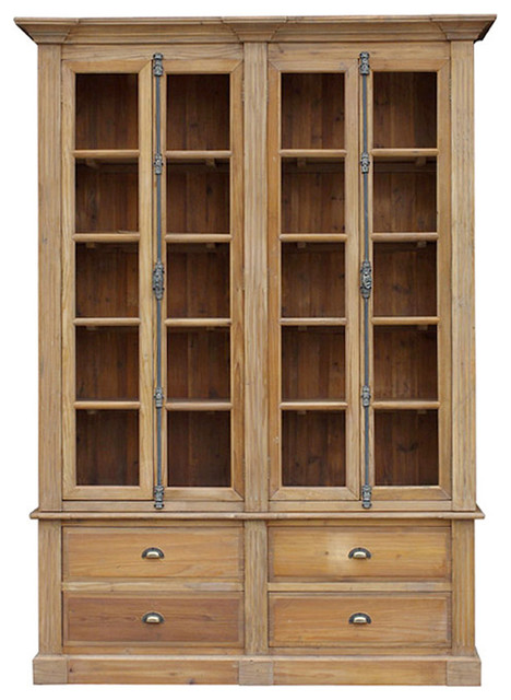 Marcus French Country Reclaimed Wood Large Bookcase ...