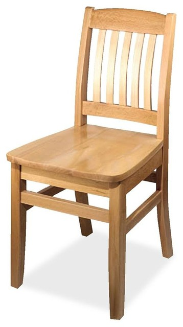 Solid Wood Restaurant Chair - Set of 2 traditional-dining-chairs