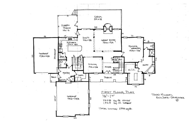 House Sketch Plans Traditional Floor Plan Cleveland