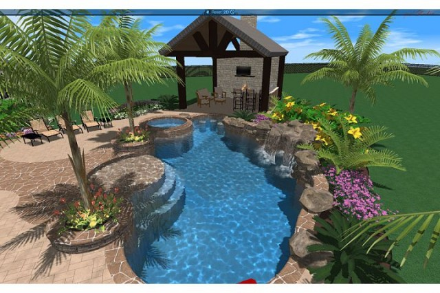 Traylor Residence tropical-rendering