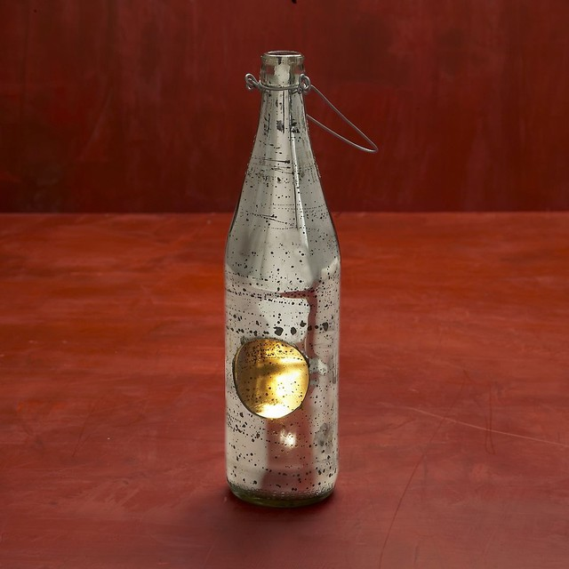 Recycled Beer Bottle TeaLight Holder eclectic