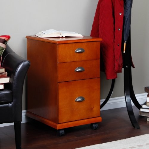 Foremost The 3 Drawer Mobile Filing Cabinet - Oak - Contemporary - Filing Cabinets - by Hayneedle
