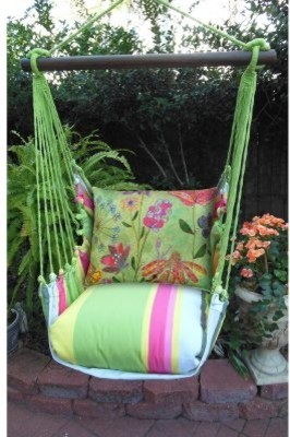 Magnolia Casual Spring Mix Hammock Chair & Pillow Set modern-living-room-chairs