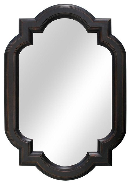 Home decorators collection mirrors 22 in w x 32 in l framed wall mirror in contemporary Home decorators collection mirrors
