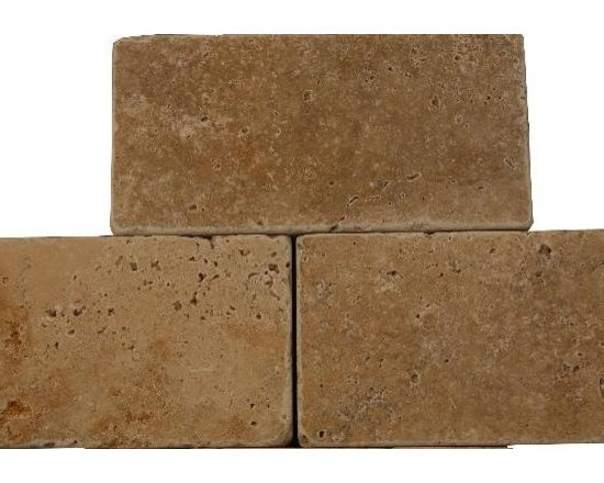 "Earthstone 3"" x 6"" Tumbled Travertine Tile - A few Earthstone 3"" x 6"" tumbled travertine tiles imported direct from Turkey.   Travertine tile for your bathroom, living room, dining room or kitchen.  Travertine Tile located in New Jersey."