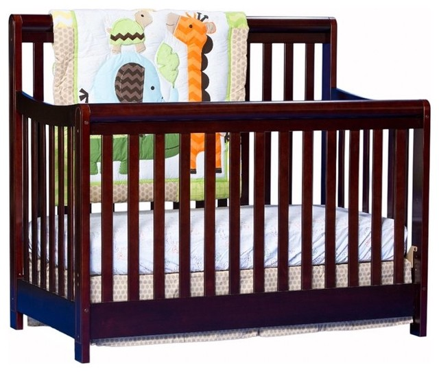 Stork Craft Cadenza 4-in-1 Fixed Side Convertible Crib  in Cherry transitional-cribs