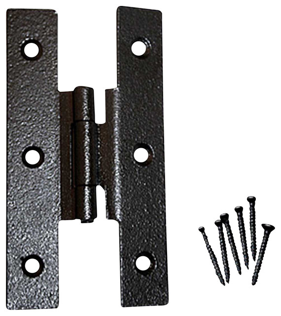 Cabinet Hinges Black Wrought Iron H Hinge 3 1/2'' H 3/8 Offset modern ...