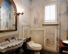 Bathroom Sinks Antique Limestone and Marble (Mediterranean style) mediterranean-bathroom-sinks