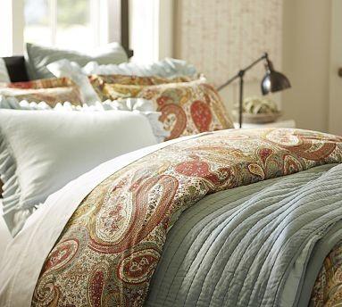 harper paisley duvet cover king cal king multi traditional duvet covers and duvet sets. Black Bedroom Furniture Sets. Home Design Ideas