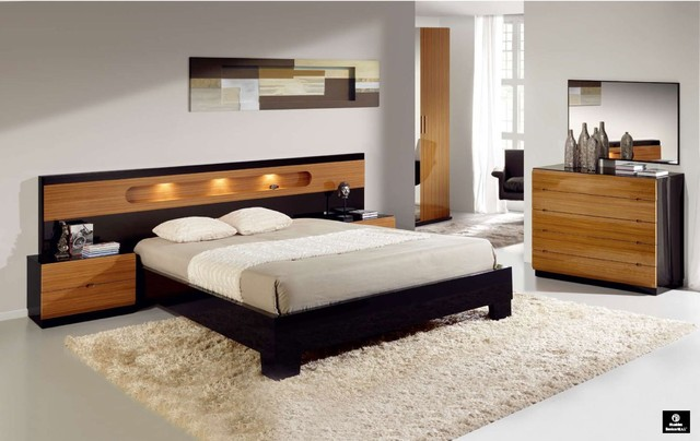 Made in Spain Wood Modern Design Bed Set with Extra Storage ...