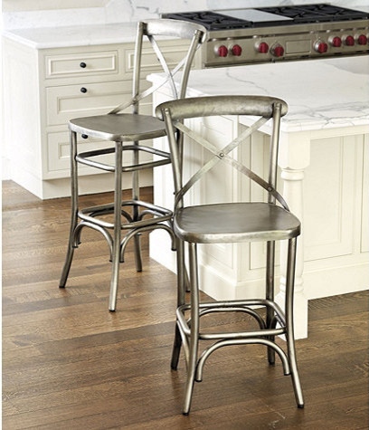 Constance Metal Counter Stool Traditional Bar Stools