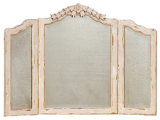 francine vanity mirror traditional bathroom mirrors