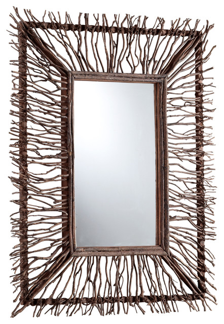 Twig and branch rectangle toland mirror transitional