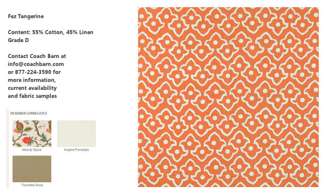 Fez Tangerine Upholstery Fabric - CB Upholstered Collection eclectic-upholstery-fabric