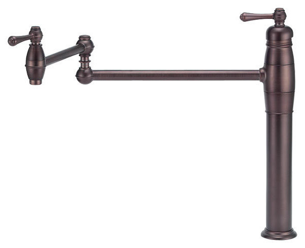 Danze D206557RB Oil Rubbed Bronze Opulence Deck Mounted Pot Filler contemporary-kitchen-faucets