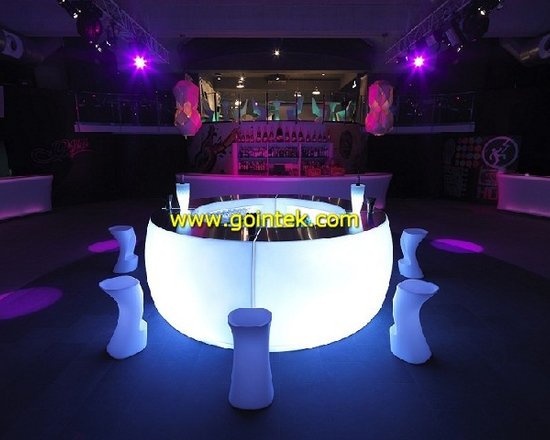 glowing led bar counter design -