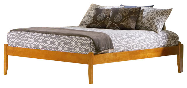 Atlantic Furniture Concord Caramel Latte Daybed with Open Footrail ...