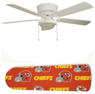 Kansas City Chiefs 52 Quot Ceiling Fan With Lamp Eclectic