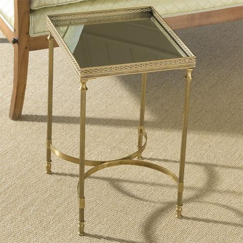 Global Views Claudette 39 S Table Antique Brass And Mirror Traditional Side Tables And End