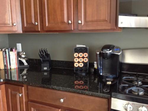 Backsplash help - Dark green kitchen cabinets ...