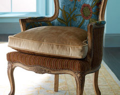 Old Hickory Tannery Darra Teal Chair traditional-living-room-chairs