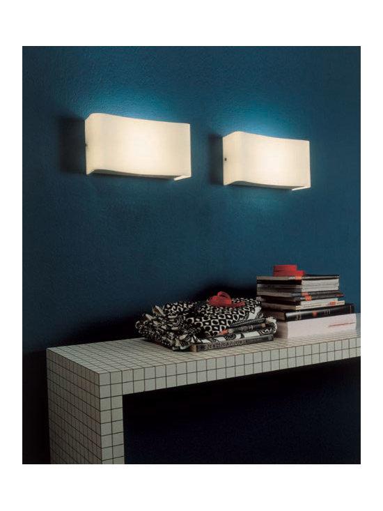 Magoo Wall Lamp by Penta Light - Magoo Wall Lamp by Penta Light. Wall lamp with shade in opal white blown glass. Magoo Wall Lamp by Penta Light are designed by Massimo Belloni.