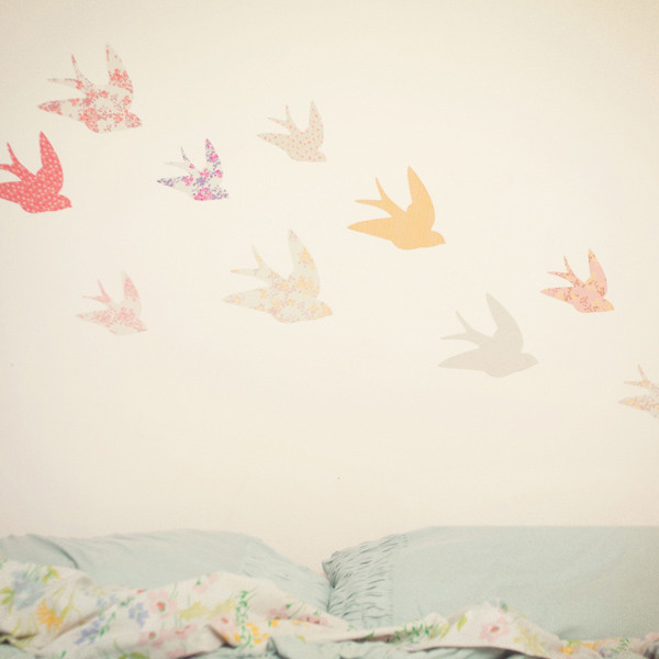 Swallows contemporary decals