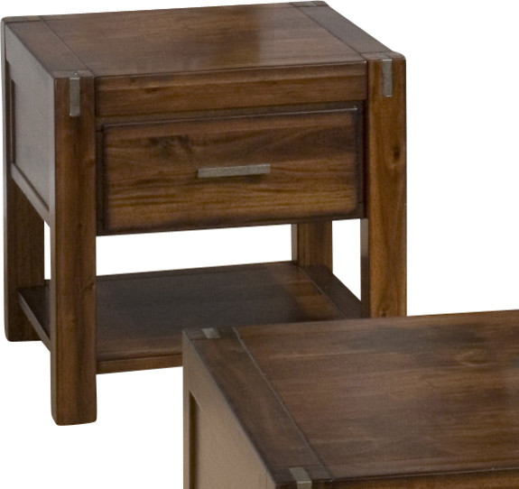 Jofran Rustic Loft 26x24 End Table contemporary-side-tables-and-end-tables