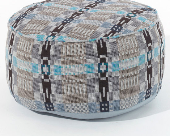 Donna Wilson, SCP - Arthur Pouf - Nos Da Blue Moon - Donna Wilson, SCP - The Arthur pouffe by Donna Wilson is the latest of her occasional seating designs for SCP. The drum shaped, low lying pouffe features a piping detail at its top edge. It is made with specially designed hard-wearing fabric and filled with 100% recycled PET fibre. Made in the UK.