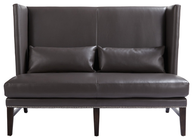Wing Back Leather Settee Eclectic Loveseats Toronto