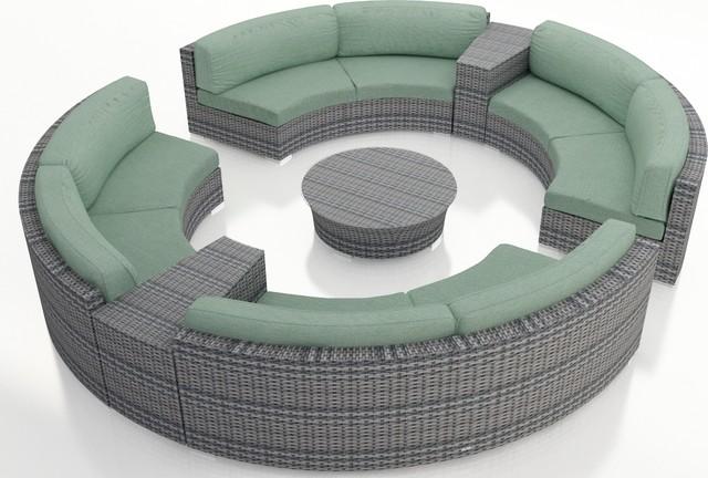 Furniture Wicker Outdoor Furniture Nastro 7 Piece Outdoor