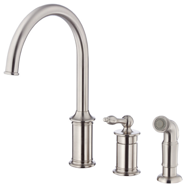 Danze Prince™ Single Handle Kitchen Faucet with Spray traditional-kitchen-faucets