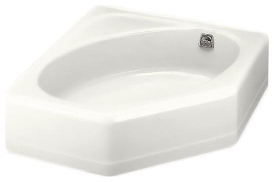 KOHLER K 824 0 Mayflower Corner Bathtub With Right Hand Drain In White Trad