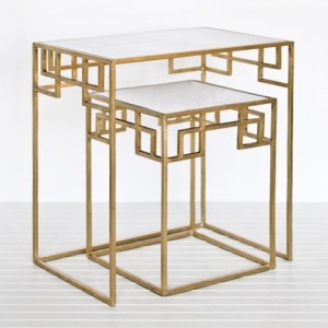 Gold Leaf Nesting Tables modern-side-tables-and-end-tables