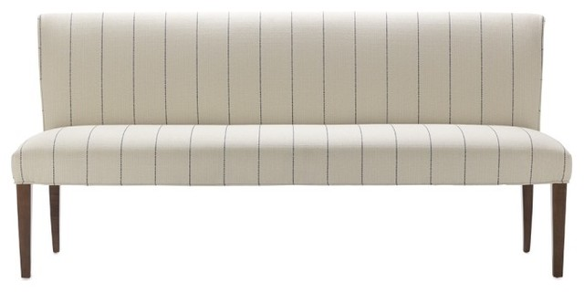 Fitzgerald Upholstered Bench, French Stripe contemporary benches