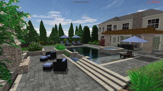 Contemporary Pool Designs modern-rendering