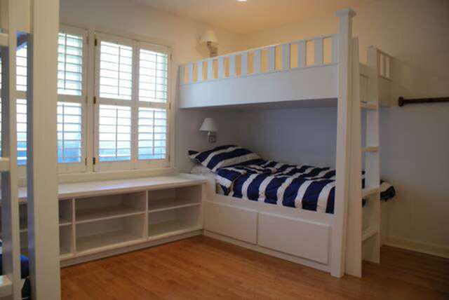 Custom built in bunk beds contemporary-bunk-beds