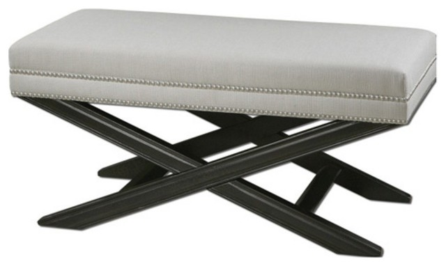 uttermost viera upholstered bench modern bedroom benches