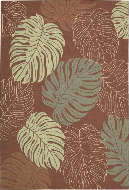 "Rainforest RAI02 5' x 7'6"" Mocha Rug contemporary-rugs"