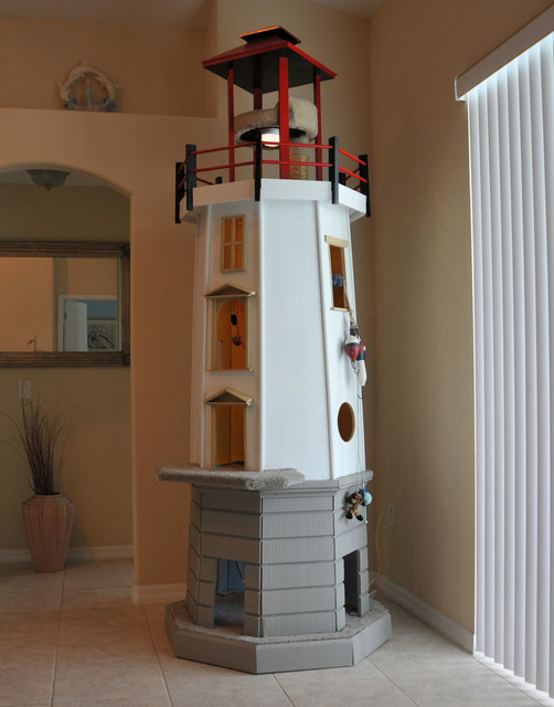 Lighthouse cat tower - Beach Style - Cat Furniture - other metro - by Square Paws