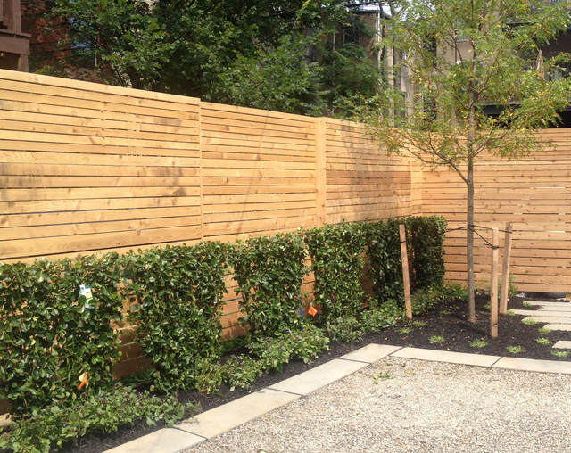Modern Slat Fence Contemporary Home Fencing And Gates